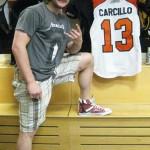 Dan Carcillo wears EVH sneakers