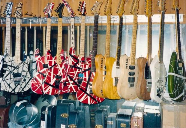 Never Seen Photos Of Eddie Van Halens Guitar Collection At 5150