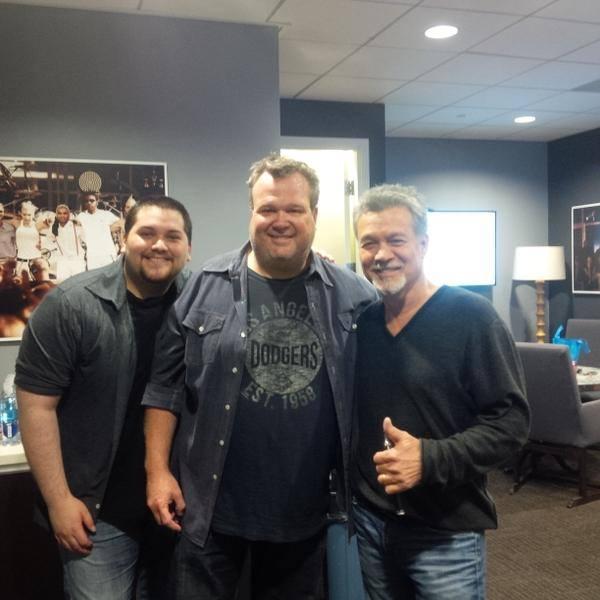 Eddie & Wolf Van Halen with Eric at The Ellen DeGeneres Show